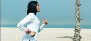 мусульманка в хиджабе найк
